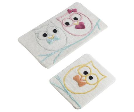 Love Owls 2 db Fürdőszobai szőnyeg