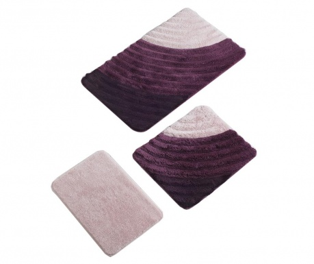 Cole Purple 3 db Fürdőszobai szőnyeg