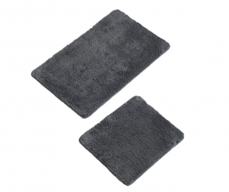 Set 2 covorase de baie Plain Anthracite