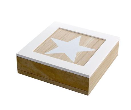 Škatla za čaj s pokrovom Star