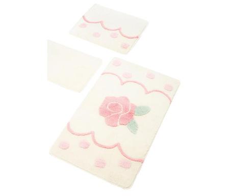 Rose Cream 3 db Fürdőszobai szőnyeg