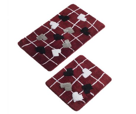 Kalbim Red 2 db Fürdőszobai szőnyeg