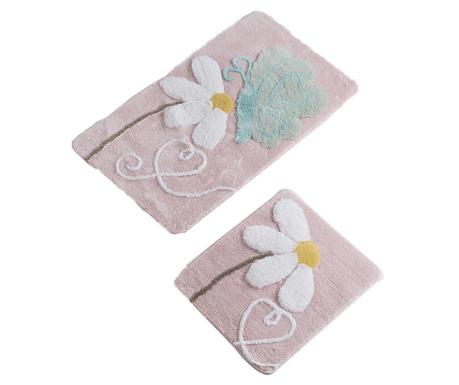 Flower Butterfly 2 db Fürdőszobai szőnyeg