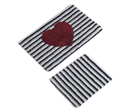 Heart Line 2 db Fürdőszobai szőnyeg