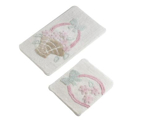 Sepet Cream 2 db Fürdőszobai szőnyeg