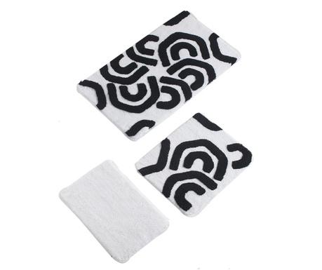 Pattern 3 db Fürdőszobai szőnyeg
