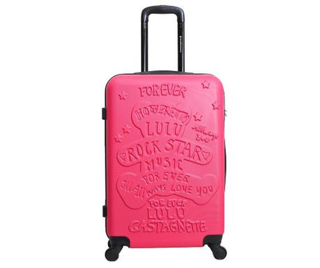 Βαλίτσα τρόλεϊ Rockstar  Fuchsia