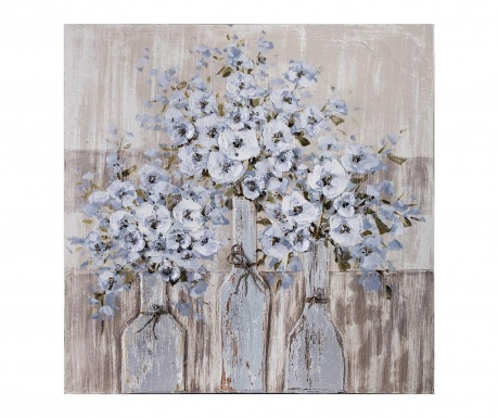 Tablou Bottle Flowers 80x80 cm