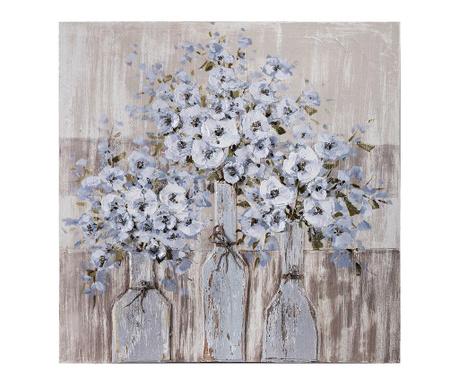 Slika Bottle Flowers 80x80 cm