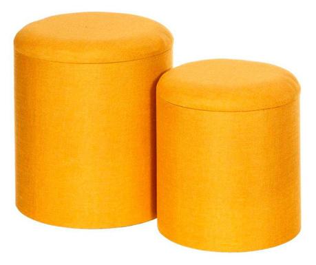 Set 2 taburejev Tomasa Basic Yellow