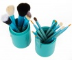 Set 12 pensule pentru machiaj si suport Makeup Lover Turquoise
