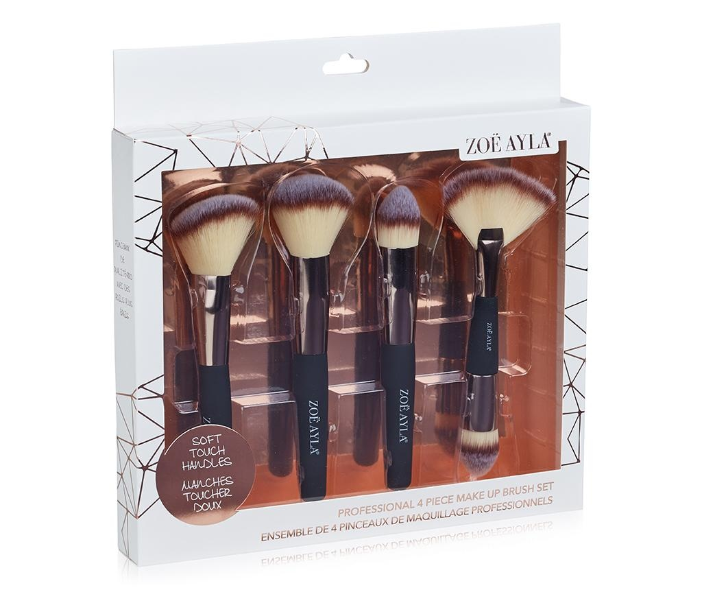 Set 4 čopičev za ličenje Professional Soft Touch Cream