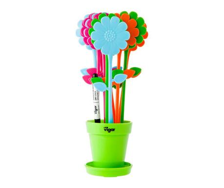 12 oznak za rastline, flomaster in držalo Kosy