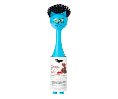 Valj za odstranjevanje kosmov s krtačko Vincent Farm Cat Blue