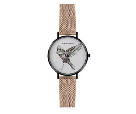 Γυναικείο ρολόι χειρός Emily Westwood Wings Glam Rose