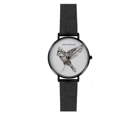 Γυναικείο ρολόι χειρός Emily Westwood Wings Glam Black