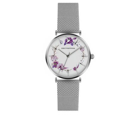 Γυναικείο ρολόι χειρός Emily Westwood Maroc Silver