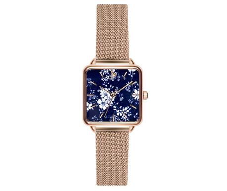 Γυναικείο ρολόι χειρός Emily Westwood Square Silver Gold