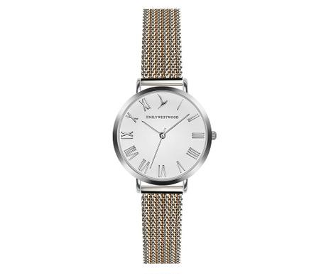 Дамски ръчен часовник Emily Westwood Dora Silver Gold