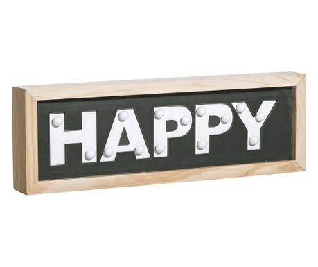 Φωτεινό διακοσμητικό τοίχου Happy