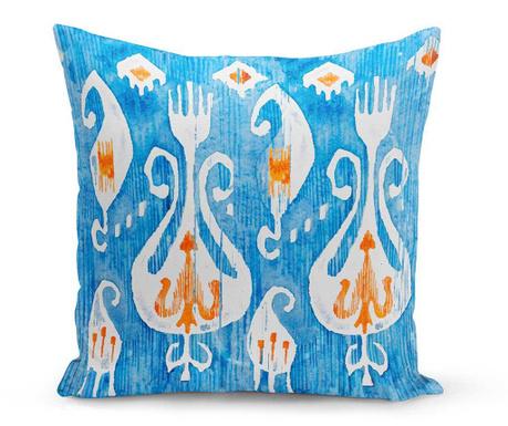 Διακοσμητικό μαξιλάρι Freya Blue 43x43 cm