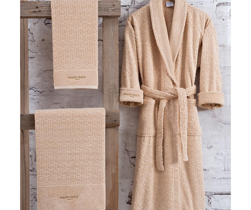 Set kopalnega plašča in 2 brisač Gladis Beige XL