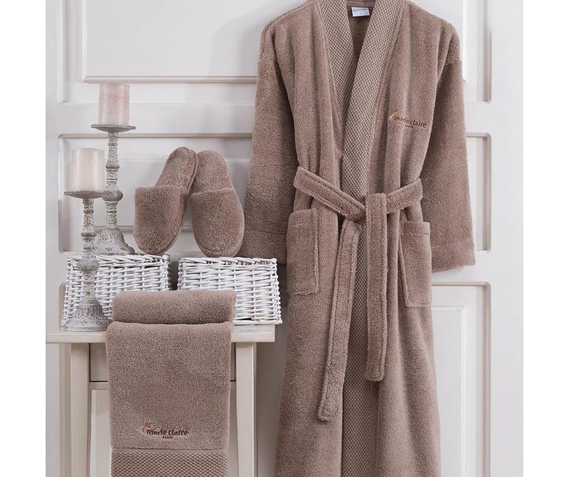 Set textile pentru baie 3 piese Jaina Taupe XL
