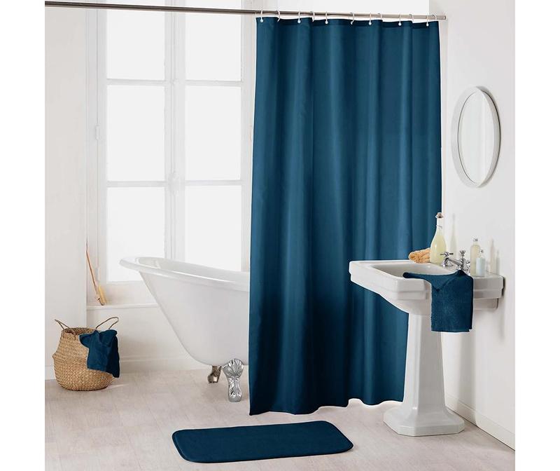 Zavjesa za tuš Essencia Dark Blue 180x200 cm