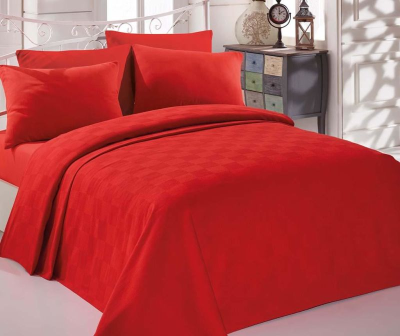 Posteljina Double Pique Incolor  Red