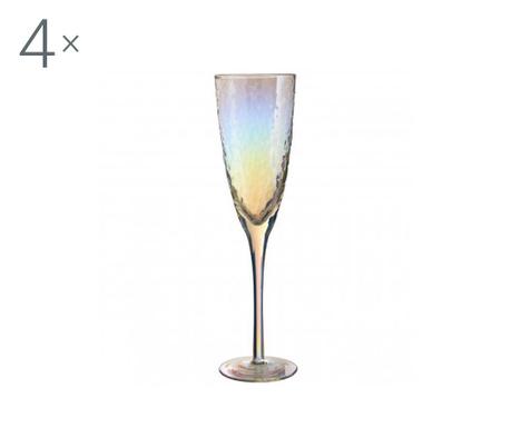 Set 4 kozarcev za šampanjec Aurora Gradient 260 ml