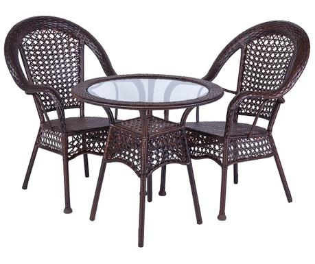 Комплект маса и 2 стола Asila