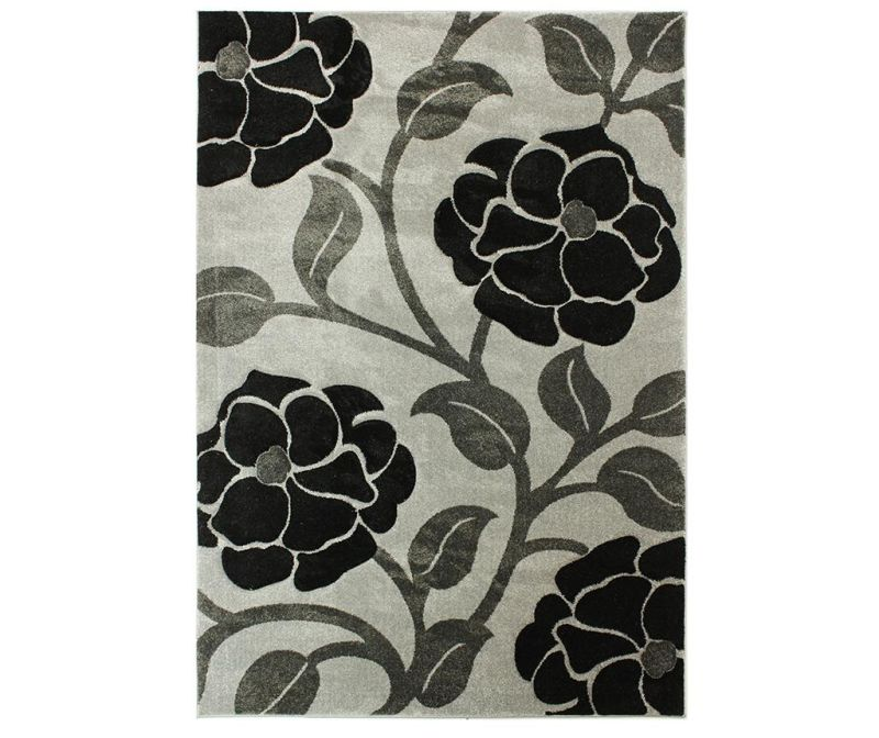 Koberec Vine Grey & Black 120x170 cm