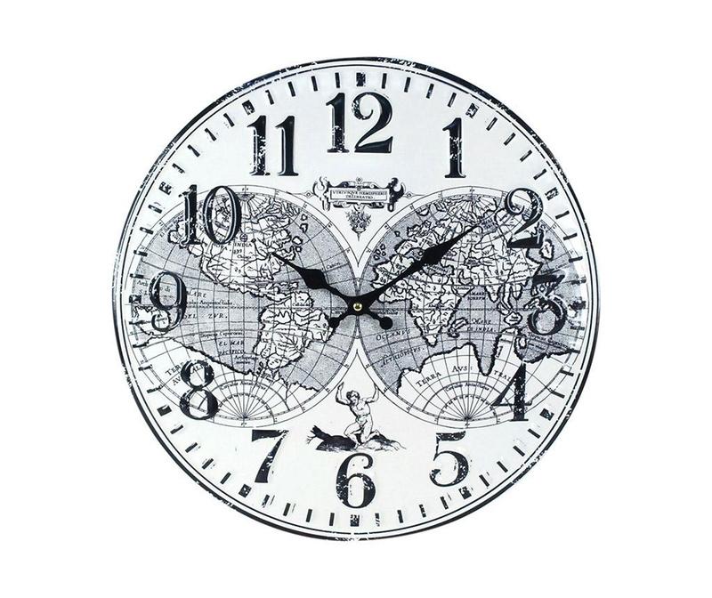 Nástěnné hodiny World Map