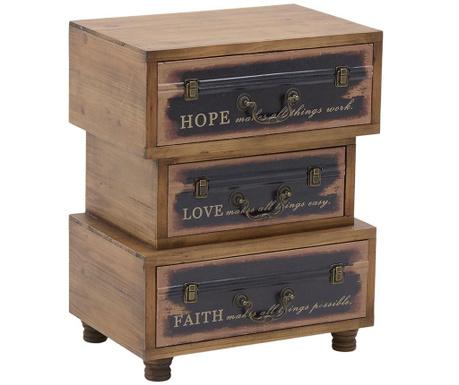Noćni ormarić Hope Love Faith