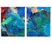 Set 2 rolo zaves Blue Paint 100x200 cm