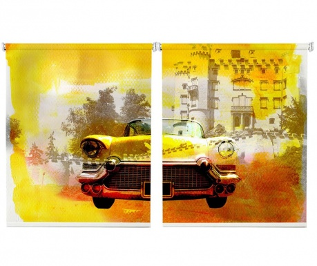 Set 2 rolo zaves Old Yellow Car 100x200 cm