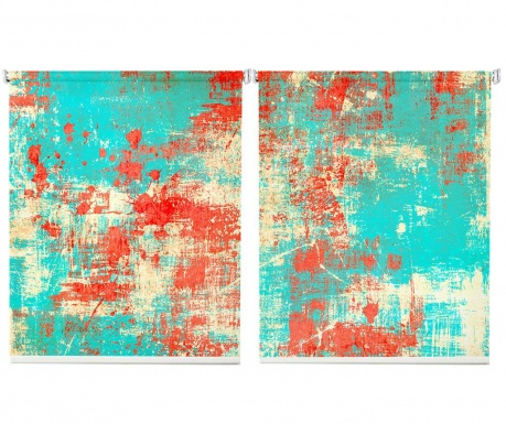Set 2 rolo zaves Turquoise Wall 100x200 cm