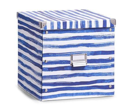 Кутия с капак за съхранение Blue Stripes Tall