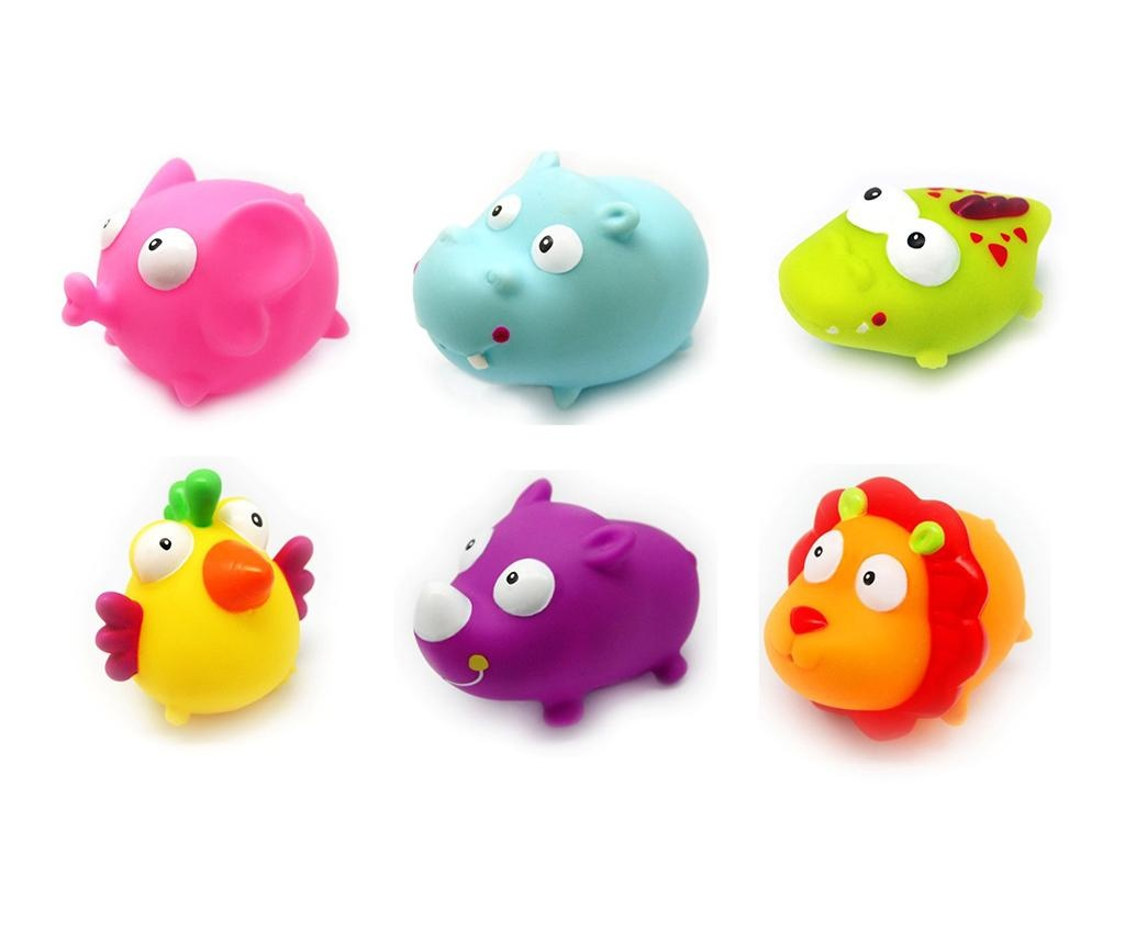 Set 6 igračk za kopalno kad Safari Wild