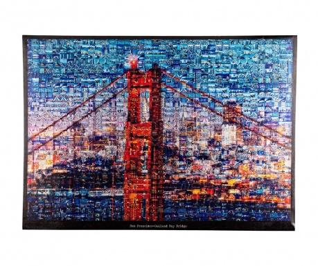 Slika Night Oakland Bay Bridge 70x100 cm
