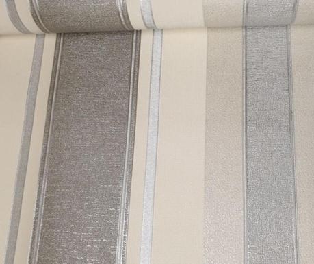 Stenska tapeta Palazzo Stripe White Platinum 53x1005 cm