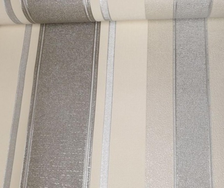Tapeta Palazzo Stripe White Platinum 53x1005 cm