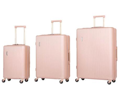 Zestaw 3 walizek na kółkach Mayfair Rose Gold