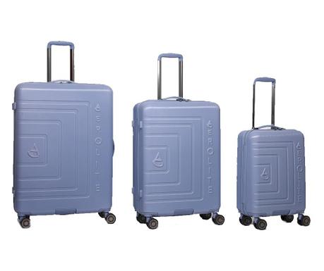 Zestaw 3 walizek na kółkach Matrix Glacier Blue