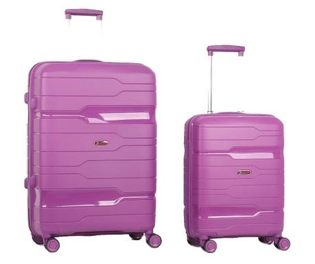 Zestaw 2 walizek na kółkach Circuit Purple