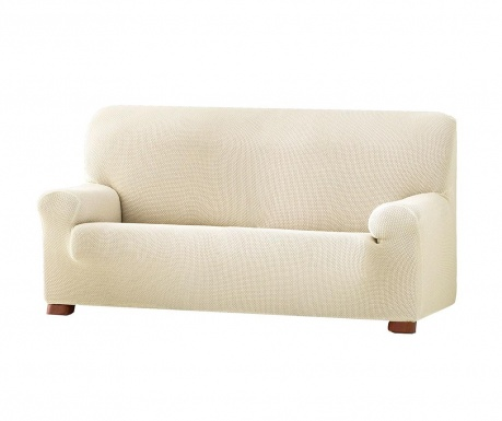 Ελαστικό κάλυμμα καναπέ Cora Ecru