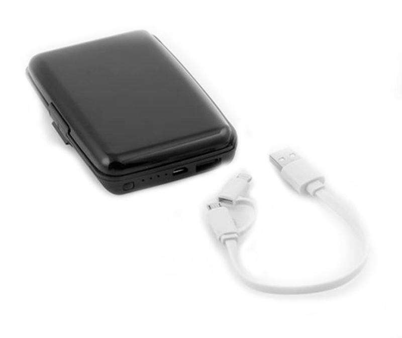 Držač za kartice s vanjskom baterijom za smartphone InnovaGoods Security