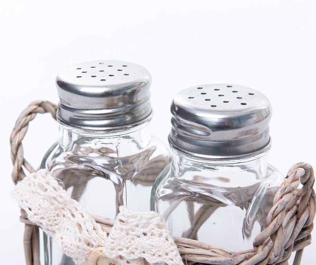 Set posuda za sol i posuda za papar s držačem Mary
