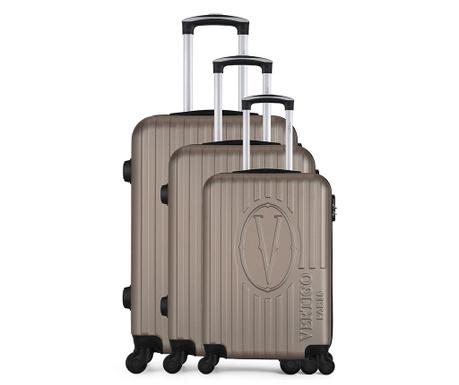 Bogota Gold 3 db Gurulós bőrönd