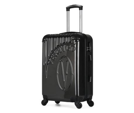 Osaka Dark Grey Gurulós bőrönd 36 L